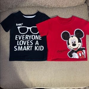 Bundle of 2 size 2T name brand graphic T-shirt's